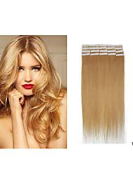 "18""-28"" Brazilian Hair Extension PU Skin Weft Hair Extension 2.5g/pc 40pcs/pack Tape In Hair Extension In Stocks"