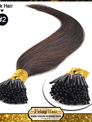 i tip hair extensions dark brown (2#)