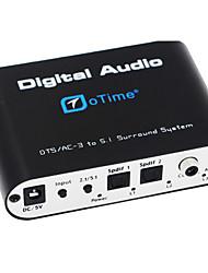 otime® ot-5r DTS / AC-3-Audiodecoder w / 5.1-Kanal-Ausgang - schwarz (EU)