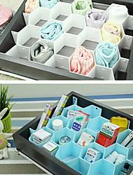 Honeycomb Shaped Grid Drawer Divider Closet Storage DIY Organizer Set (Random Color)