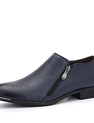 Men Business Genuine Leather Shoes Slip on Pointed Toe Shoes EU 39-43