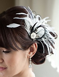 Hand Made Wedding Feather Hair Clip Fascinator Headpieces Fascinators 017