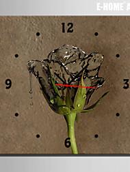 E-HOME® Water Rose Clock in Canvas 1pcs