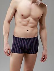 Men's Modal Vertical stripes No Trace Comfortable Briefs