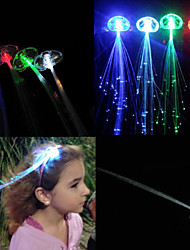 LED Luminous Hair Flashing Multicolour Clip on Braid Decoration Light Up Glow for Party