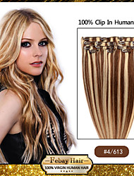 "18 ""4/613 clip in remy human hair extensions"