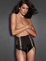 Women's Stretch Satin Lace-Up Panty