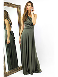 Women's Sexy  Deep V Neck Halter Slim Maxi Dress (Can Be Dress in Several Ways)