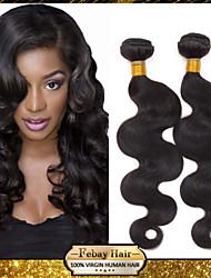 peruano pelo de la onda del cuerpo virginal teje negro 3pcs naturales pulgadas 8-30 / lot 100g por paquete cruda la trama del pelo sin