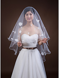 Wedding Veil One-tier Fingertip Veils Pencil Edge