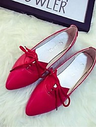 Women's Shoes Flat Heel Pointed Toe Flats Casual Black/Red/White