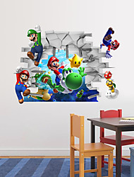 Animals / Cartoon / Romance / Fashion / Holiday / Shapes / People / Fantasy / Sports / 3D Wall Stickers 3D Wall StickersDecorative Wall