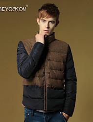 Men's new fashion color down jacket,The Korean version of slim thick warm jacket coat