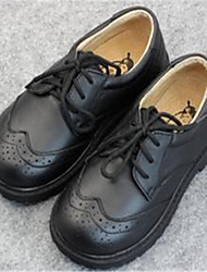 Baby Shoes Casual Leather Oxfords Black/White