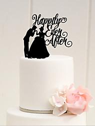 Carta e Número (de Acrilíco , Preto ) - Casamento/Aniversário/Despedida de Solteira