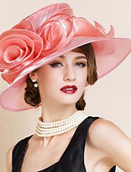 Capacete Chapéus Casamento/Ocasião Especial Organza Mulheres Casamento/Ocasião Especial 1 Peça