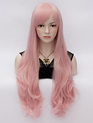 70cm Loita Long Body wavy Hair Cosplay Wig  Heat Resist Synthetic Party hair Pink