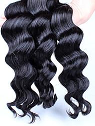 6A Unprocessed Peruvian Virgin Hair Loose Wave 3pcs Lot Human Hair Extensions Natural Black Hair Weaves