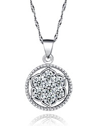 Korean fine jewelry Cute/Party/Work/Casual Sterling Silver Pendant Necklace Cz statement /women necklace