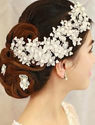 Femme Imitation de perle Casque-Mariage Occasion spéciale Fleurs 1 Pièce