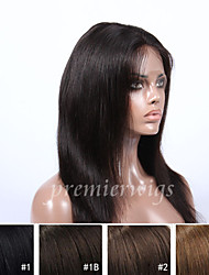 2015 Top Selling 10''-24'' Natural Straight Virgin Chinese Human Hair Wigs Full Lace Wigs With Baby Hair For Black Women