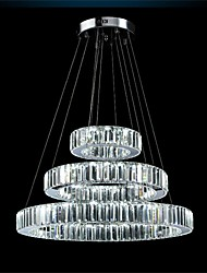 YL Modern LED Chandelier Lights Lighting Three Rings K9 Large Crystal Hotel Ceiling Light Fixtures