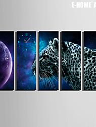 E-HOME® Leopard Clock in Canvas 5pcs