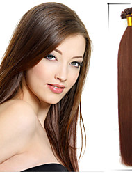 "1Pc/Lot 26"" 0.7g/s  Brazilian Virgin Hair Straight Pre Bonded Hair Tangle Free Aplique De Cabelo Humano Natural"