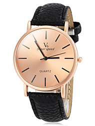 Men's Watch Dress Watch Simple Style Bronze Round Dial