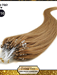 "1pc/lot 22"" Golden Blonde(#16) 100S 50g/pack Micro Loop Remy Human Hair Extensions many colors in stock"