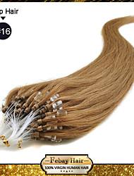"""1pc / lot 22 """"rubio de oro (# 16) 100s 50g / pack remy micro loop extensiones de cabello humano de muchos colores en stock"""