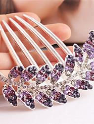 Fashion Flower Alloy Hot Sale Hair Comb(Purple)(1Pc)