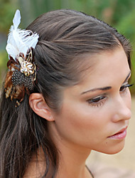 Hand Made Wedding Feather Hair Clip Fascinator Headpieces Fascinators 050