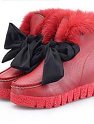 Zapatos de mujer - Plataforma - Botas de Nieve - Botas - Exterior - Piel de Oveja - Negro / Marrón / Rojo