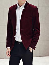 Men's Long Sleeve Regular Blazer , Cotton/Polyester/Wool Pure size : M,L,XL,XXL