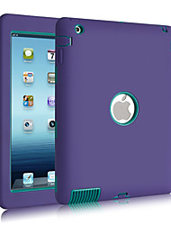 3 en 1 combo motif de vague pc& silicone incassable pour iPad 2/3/4