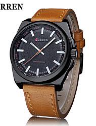 CURREN® Men's Fashion Dress Watch Japanese Quartz Military Design Leather Strap Cool Watch Unique Watch