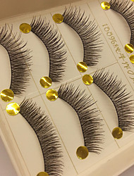 5 Pairs Fabulous Thick Black Chemical Fiber False Eyelashes