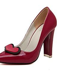 Women's Shoes Chunky Heel Heels Pumps/Heels Casual Black/Red