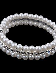 Bracelet - en Alliage/Imitation Perle - Décontracté - Perlé
