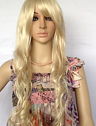 Capless Extra Long High Quality Synthetic Nature Look Light Blonde Curly Hair Wig