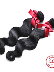 EVET Peruvian Virgin Hair Body Wave Hair Extensions Peruvian Body Wave Human Hair Weft 2pc 200g/lot