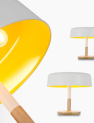 Mushroom Table Lamp/3 Light/Classical/Artistic/Modern Simplicity/White & Yellow/Wood& Aluminum/