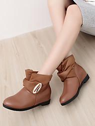 Women's Shoes Black/White/Yellow Wedge Heel 3-6cm Boots (PU)