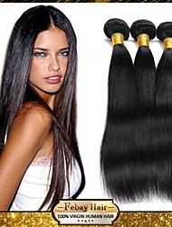 Mongolian Virgin Straight Hair Weaving Natural Black 8-30 inch 1pc/Lot 100G Per Bundle Raw Unprocessed Hair Weft