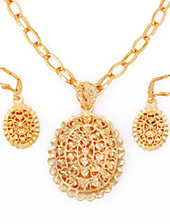 WesternRain Fashion Jewelry sets,Gold Plated Vintage Women Statement Jewelry Necklace Party jewelry
