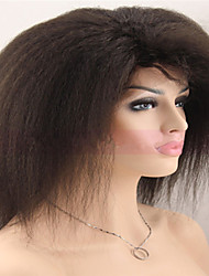 Top Quality Cheap 100% Virgin Brazilian Kinky Straight Human Hair Lace Wigs Afro Glueless Lace Front Wigs In Stock