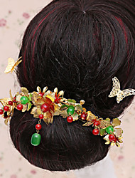 Bride's Flower Shape Beads Forehead Wedding  Hair Combs Accessories 1 PC