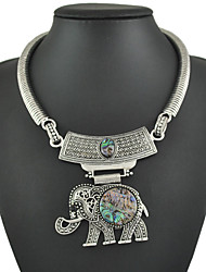 Unique Vintage Elephant  Pendant Necklace For Women Vintage Silver Chain Necklaces Gifts