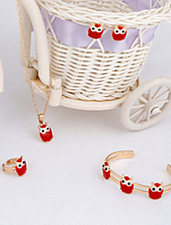WesternRain 2015 New Cute little birds Products Fashion Cute Childrens Jewellery Sets  Rhine-stone Necklace And Earrings